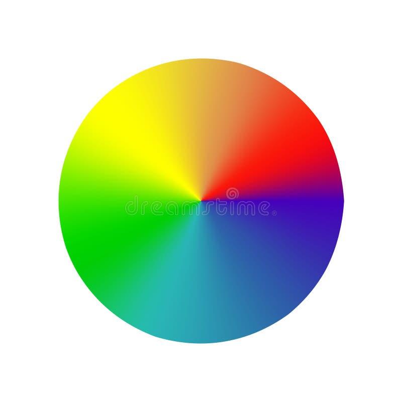 Ρόδα χρώματος φάσματος στο άσπρο υπόβαθρο διανυσματική απεικόνιση