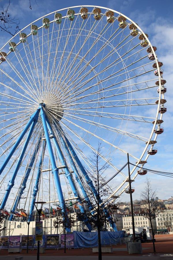 Ρόδα Ferris στη Λυών στοκ φωτογραφία με δικαίωμα ελεύθερης χρήσης