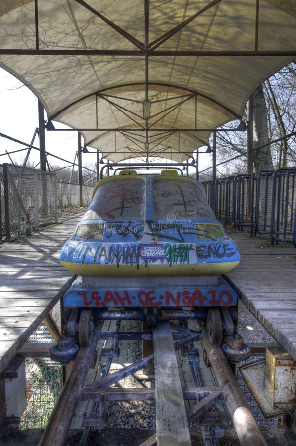 Ρόλερ κόστερ σε Spreepark Βερολίνο στοκ εικόνα με δικαίωμα ελεύθερης χρήσης