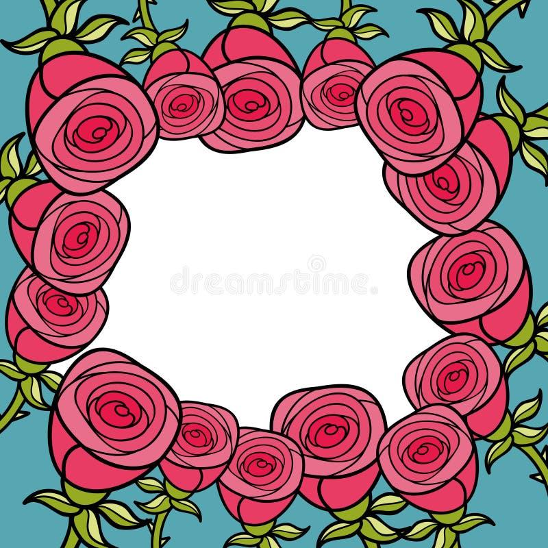 ρόδινα τριαντάφυλλα πλαι&si επίσης corel σύρετε το διάνυσμα απεικόνισης απεικόνιση αποθεμάτων