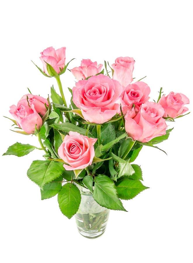 Ρόδινα τριαντάφυλλα σε ένα βάζο στοκ φωτογραφίες με δικαίωμα ελεύθερης χρήσης