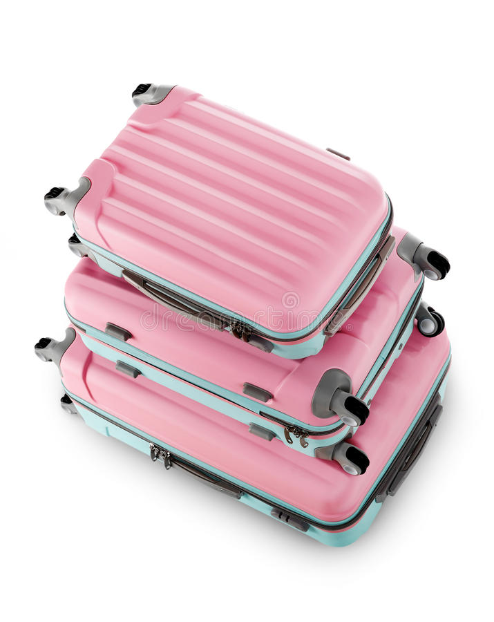 Ρόδινες βαλίτσες στοκ φωτογραφία με δικαίωμα ελεύθερης χρήσης
