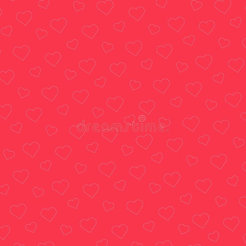 Ρόδινη ανασκόπηση προτύπων καρδιών Διανυσματική απεικόνιση για το σχέδιο διακοπών Αφηρημένο ρομαντικό πλαίσιο φωτογραφιών διανυσματική απεικόνιση