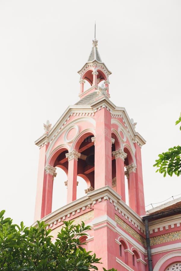Ρόδινη καθολική εκκλησία της Tan Dinh σε Hochiminh στοκ φωτογραφίες με δικαίωμα ελεύθερης χρήσης