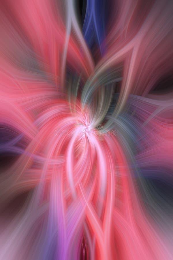 Ρόδινη πορφυρή πράσινη περίληψη Φαντασία έννοιας στοκ φωτογραφία