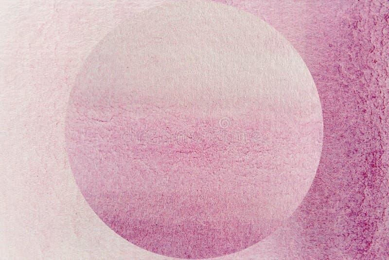 Ρόδινη σφαίρα Watercolor διανυσματική απεικόνιση
