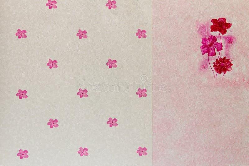 Ρόδινη ταπετσαρία λουλουδιών για την εσωτερική διακόσμηση στοκ εικόνες με δικαίωμα ελεύθερης χρήσης