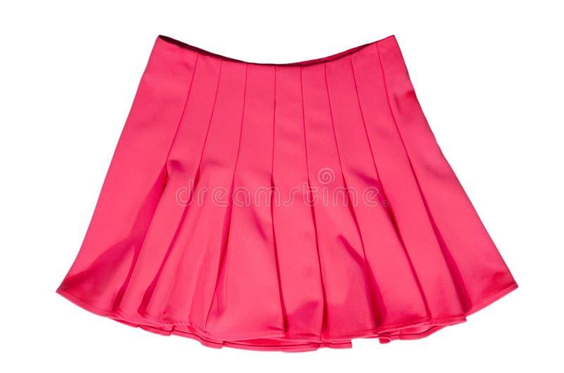 Ρόδινη φούστα θερινού νέου που απομονώνεται στο άσπρο υπόβαθρο στοκ εικόνα