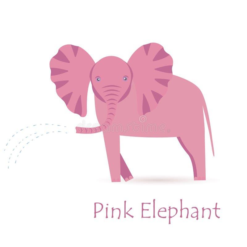 Ρόδινος μόσχος ελεφάντων απεικόνιση αποθεμάτων