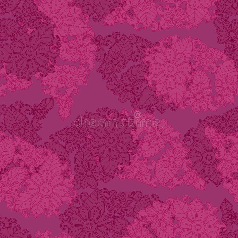 Ρόδινο άνευ ραφής υπόβαθρο σχεδίων να είστε μπορεί διαφορετική floral σύσταση σκοπών απεικόνισης χρησιμοποιούμενη Διάνυσμα λουλου απεικόνιση αποθεμάτων