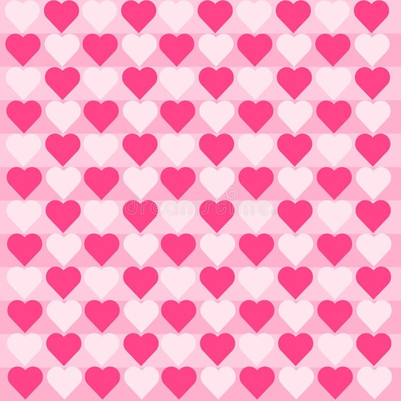 Ρόδινο άσπρο σχέδιο καρδιών στοκ εικόνα με δικαίωμα ελεύθερης χρήσης