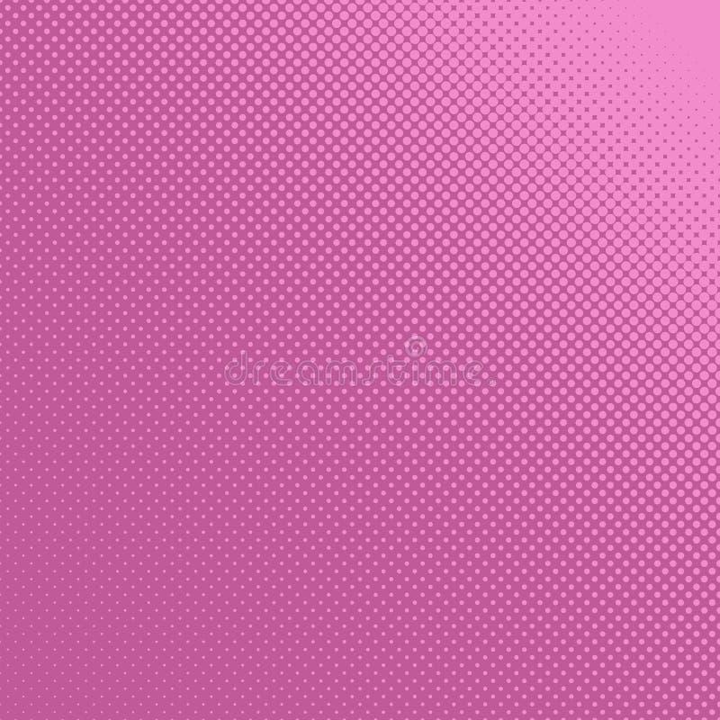 Ρόδινο αναδρομικό ημίτονο υπόβαθρο σχεδίων κύκλων - διανυσματική απεικόνιση από τα σημεία στα ποικίλα μεγέθη απεικόνιση αποθεμάτων