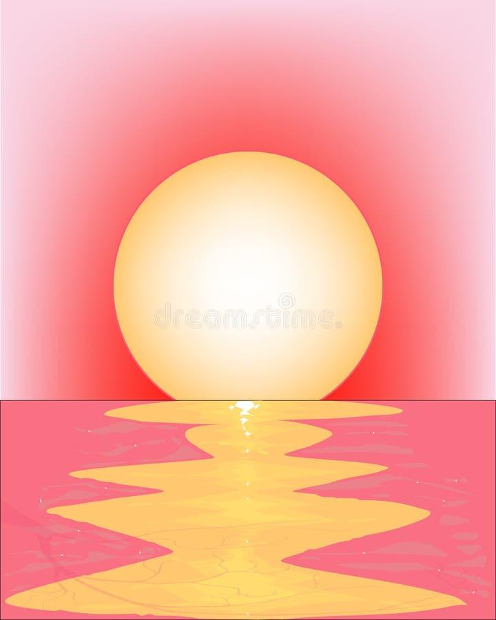 ρόδινο ηλιοβασίλεμα διανυσματική απεικόνιση
