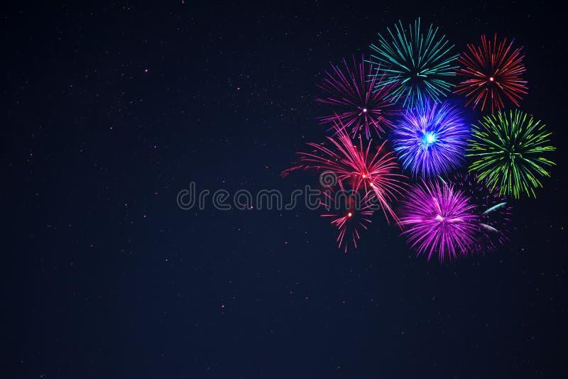 Ρόδινο διάστημα αντιγράφων πυροτεχνημάτων purpe γαλαζοπράσινο στοκ φωτογραφία με δικαίωμα ελεύθερης χρήσης