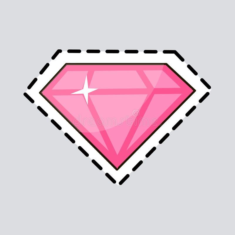 Ρόδινο διαμάντι Περικοπή αυτό έξω Πολυτελές εξάρτημα ελεύθερη απεικόνιση δικαιώματος