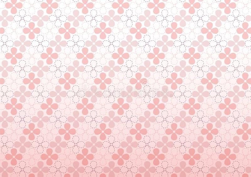 Ρόδινο διανυσματικό άνευ ραφής σχέδιο λουλουδιών ελεύθερη απεικόνιση δικαιώματος