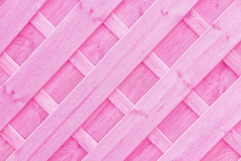Ρόδινο ξύλινο υπόβαθρο δικτυωτού πλέγματος ή trellis στοκ εικόνες