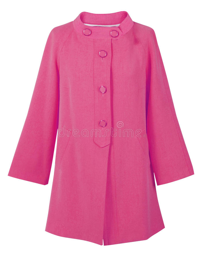 Ρόδινο παλτό στοκ φωτογραφία με δικαίωμα ελεύθερης χρήσης