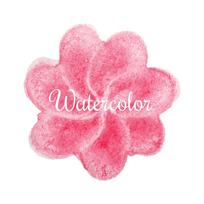 Ρόδινο συρμένο χέρι υπόβαθρο watercolor λουλουδιών απεικόνιση αποθεμάτων