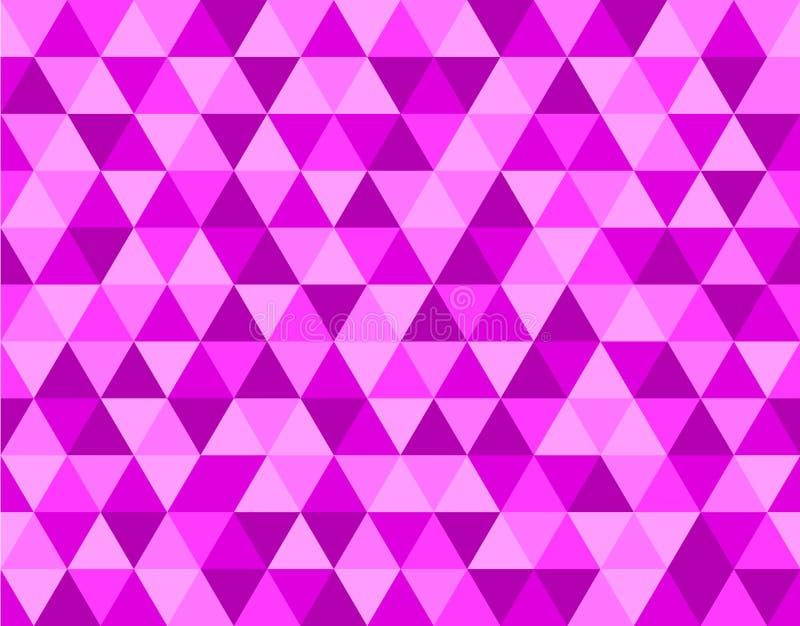Ρόδινο σχέδιο υποβάθρου τριγώνων ελεύθερη απεικόνιση δικαιώματος