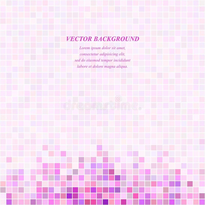 Ρόδινο τετραγωνικό πρότυπο σχεδίου υποβάθρου μωσαϊκών ελεύθερη απεικόνιση δικαιώματος