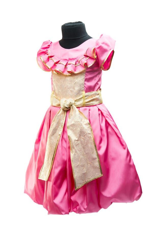 Ρόδινο φόρεμα μωρών στοκ φωτογραφία