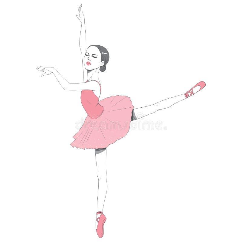 Ρόδινο φόρεμα Ballerina Tutu διανυσματική απεικόνιση