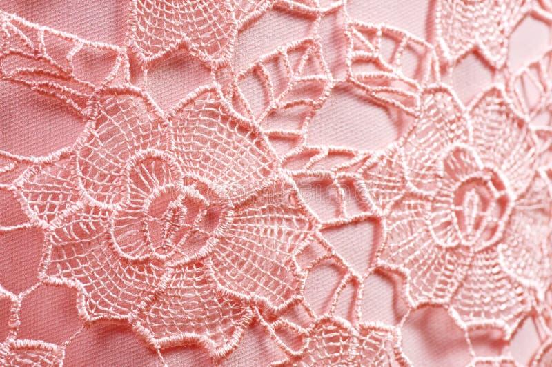 Ρόδινο ύφασμα με τη διακόσμηση στοκ φωτογραφία με δικαίωμα ελεύθερης χρήσης