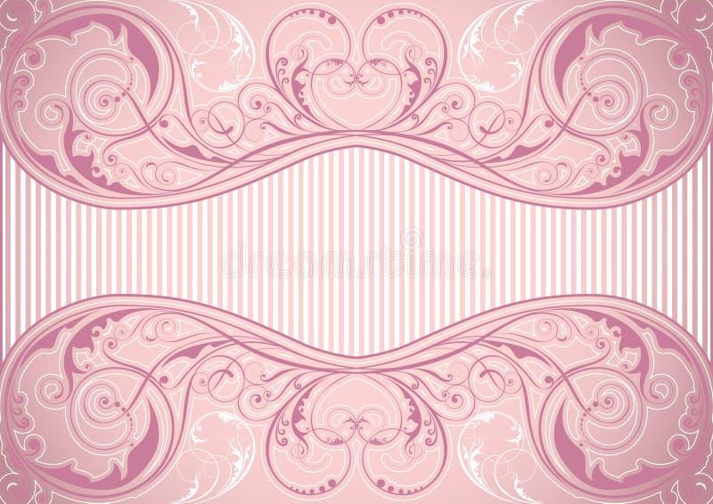 Ρόδινο floral πλαίσιο υποβάθρου διανυσματική απεικόνιση