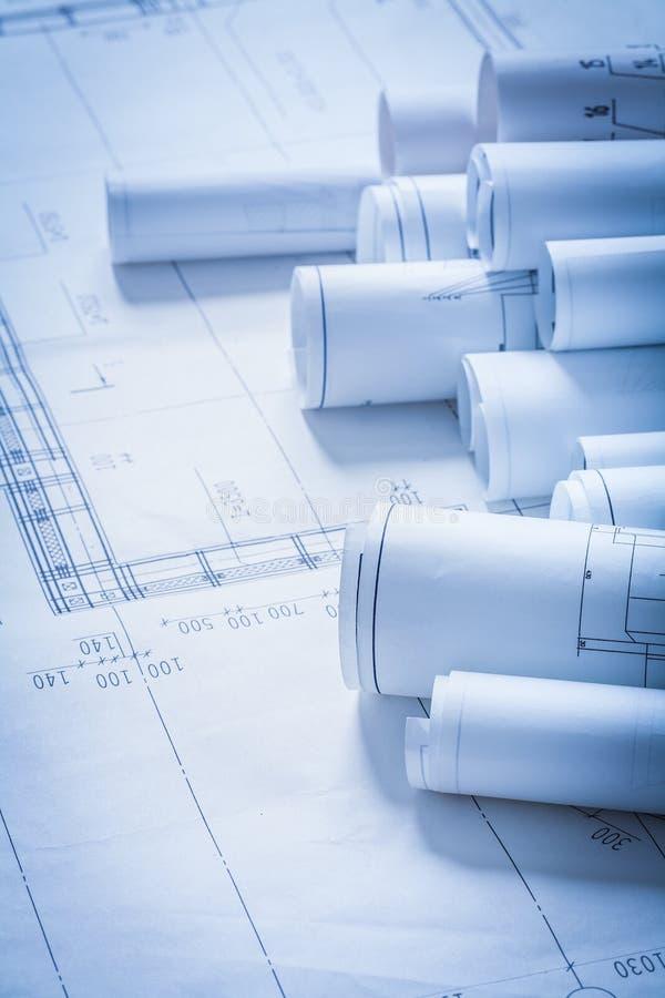 Ρόλοι της οικοδόμησης σχεδίων κατασκευής εφαρμοσμένης μηχανικής στοκ εικόνες