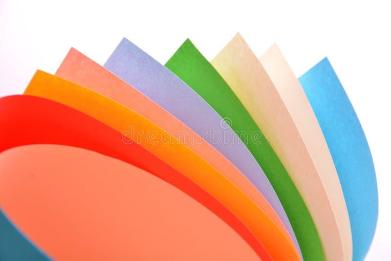 Ρόλοι του εγγράφου χρώματος στοκ φωτογραφία με δικαίωμα ελεύθερης χρήσης