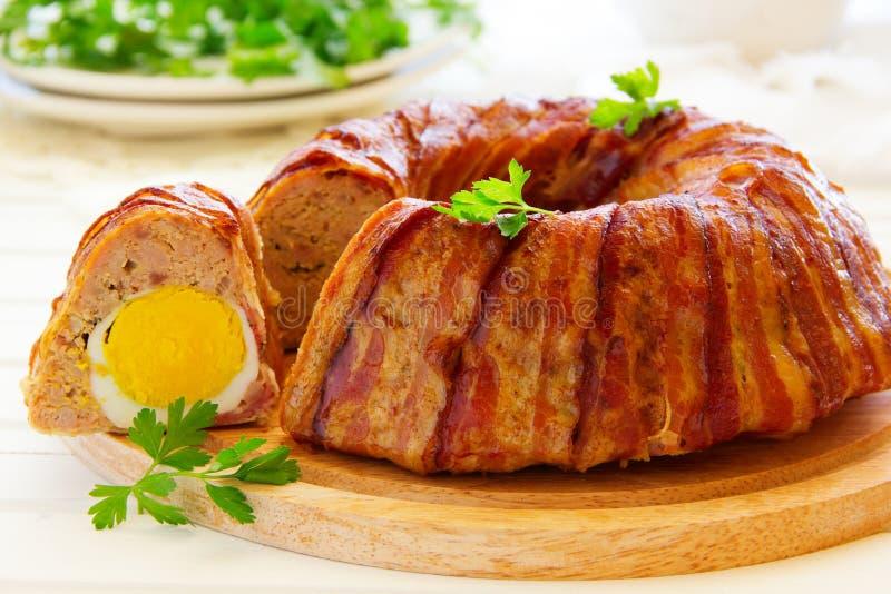 Ρόλος κρέατος με στοκ εικόνα με δικαίωμα ελεύθερης χρήσης
