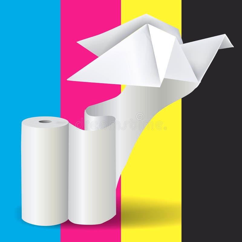 Ρόλος της Λευκής Βίβλου με το περιστέρι Origami διανυσματική απεικόνιση