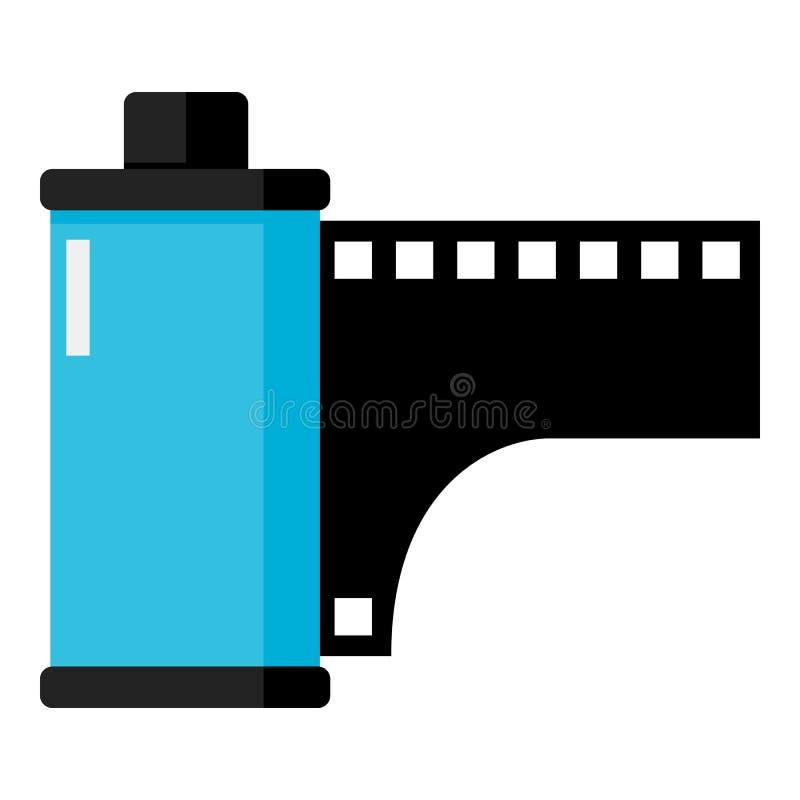 Ρόλος φωτογραφιών ή επίπεδο εικονίδιο ταινιών που απομονώνεται στο λευκό απεικόνιση αποθεμάτων