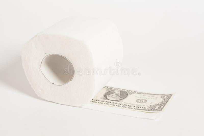 Ρόλος χαρτιού τουαλέτας του δολαρίου χρημάτων εκατό στοκ φωτογραφία με δικαίωμα ελεύθερης χρήσης