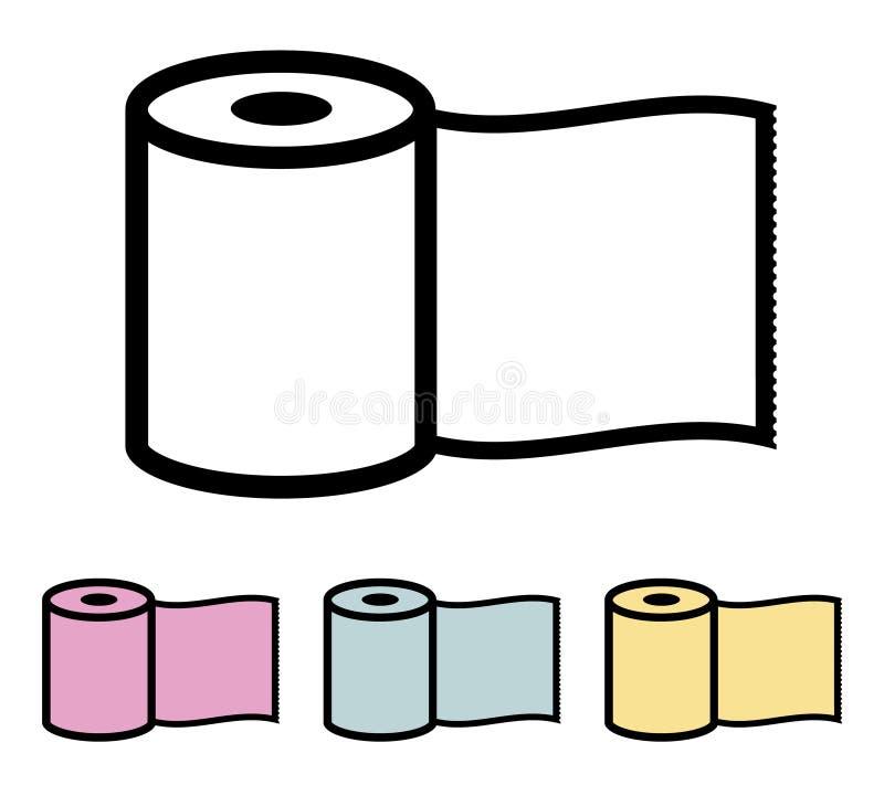 Ρόλος χαρτιού τουαλέτας ελεύθερη απεικόνιση δικαιώματος