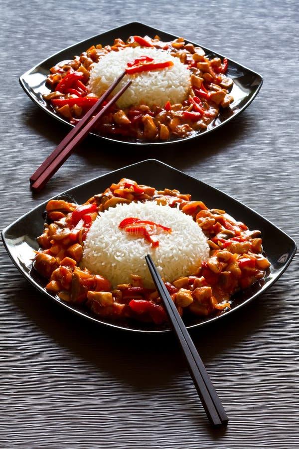ρύζι κοτόπουλου szechuan στοκ φωτογραφία με δικαίωμα ελεύθερης χρήσης