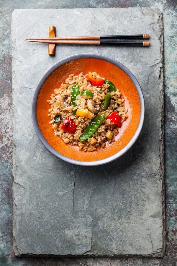 Ρύζι με τα λαχανικά στοκ φωτογραφία με δικαίωμα ελεύθερης χρήσης