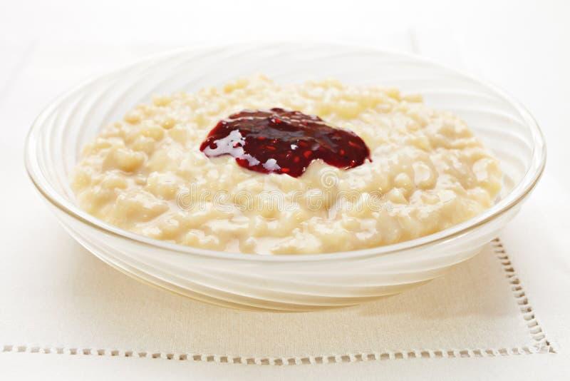 ρύζι πουτίγκας μαρμελάδας στοκ φωτογραφίες