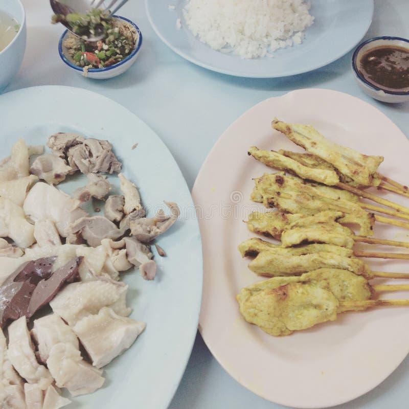 Ρύζι ραβδιών κοτόπουλου στοκ εικόνες με δικαίωμα ελεύθερης χρήσης