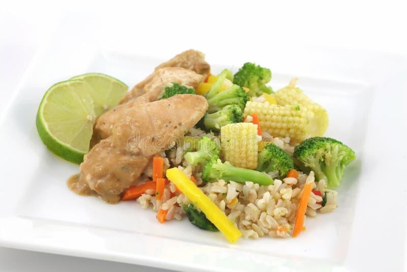 ρύζι Ταϊλανδός κοτόπουλο& στοκ εικόνα με δικαίωμα ελεύθερης χρήσης