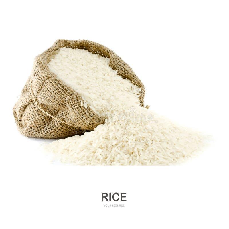 Ρύζι της Jasmine gunny στην τσάντα στοκ φωτογραφία με δικαίωμα ελεύθερης χρήσης