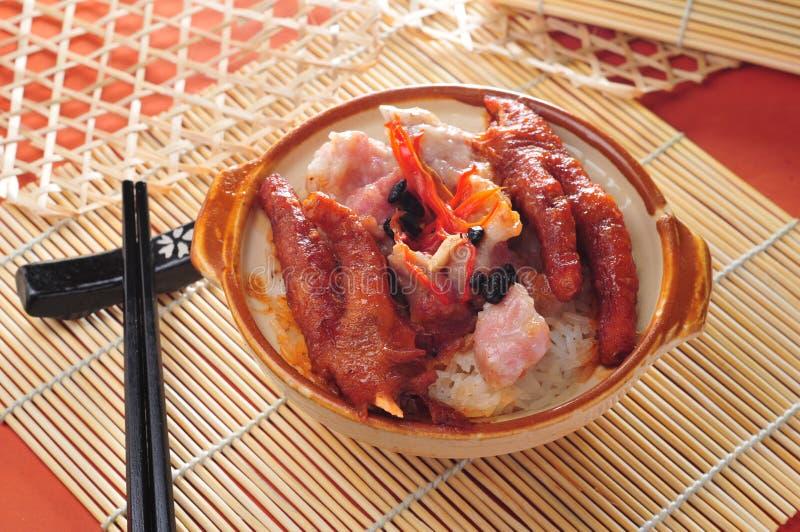 Ρύζι χοιρινού κρέατος ποδιών κοτόπουλου στοκ φωτογραφίες με δικαίωμα ελεύθερης χρήσης
