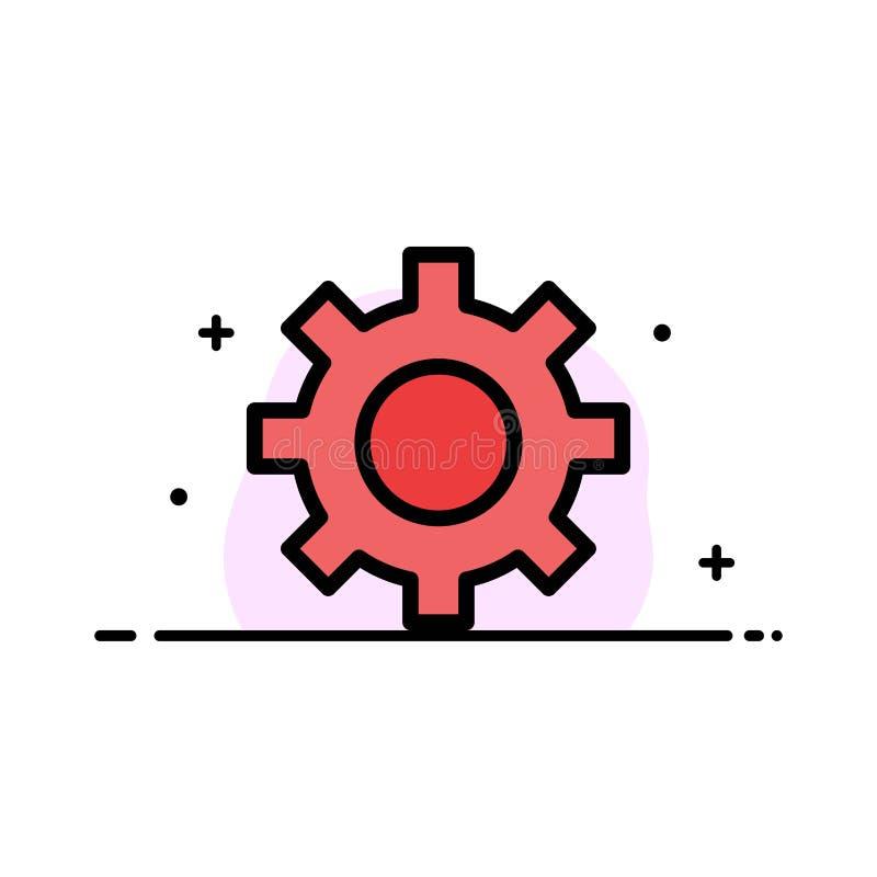 Ρύθμιση, εργαλείο, διεπαφή, χρηστών πρότυπο εμβλημάτων επιχειρησιακών επίπεδο γεμισμένο γραμμή εικονιδίων διανυσματικό ελεύθερη απεικόνιση δικαιώματος