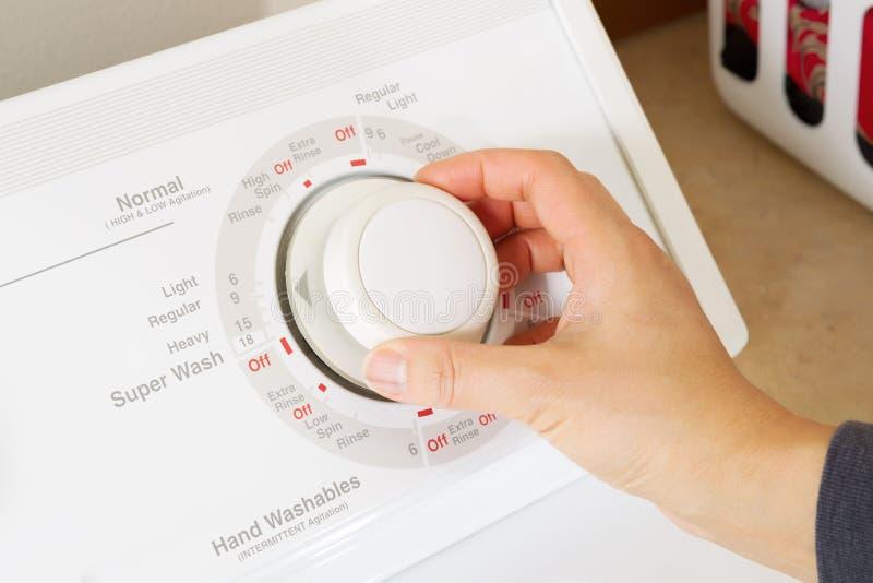 Ρύθμιση του πλυντηρίου για τον καθαρισμό πλυντηρίων στοκ εικόνες με δικαίωμα ελεύθερης χρήσης