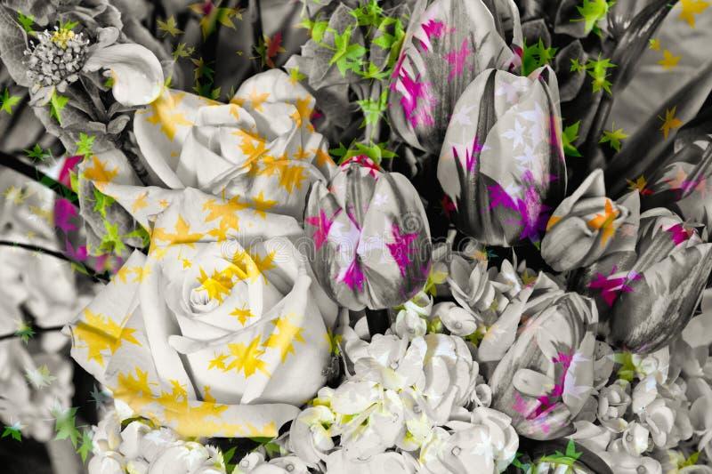 ρύθμιση floral διανυσματική απεικόνιση