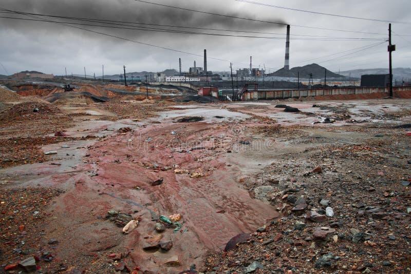 Ρύπανση οικολογίας στοκ εικόνα με δικαίωμα ελεύθερης χρήσης