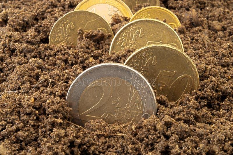ρύπος έννοιας νομισμάτων στοκ φωτογραφία με δικαίωμα ελεύθερης χρήσης