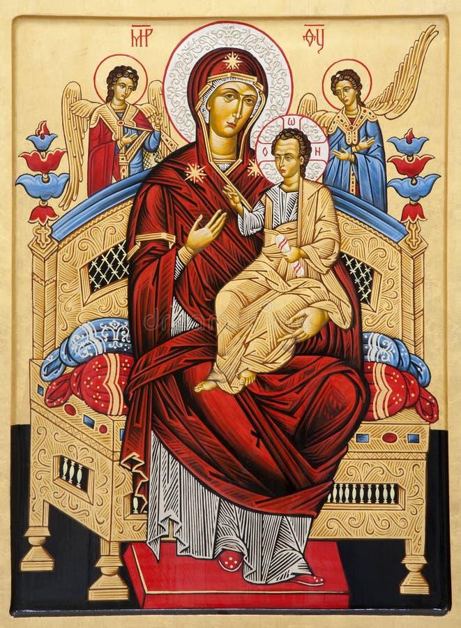 Ρώμη - εικονίδιο της Virgin Mary από το angeli degli της Σάντα Μαρία βασιλικών στοκ εικόνα με δικαίωμα ελεύθερης χρήσης