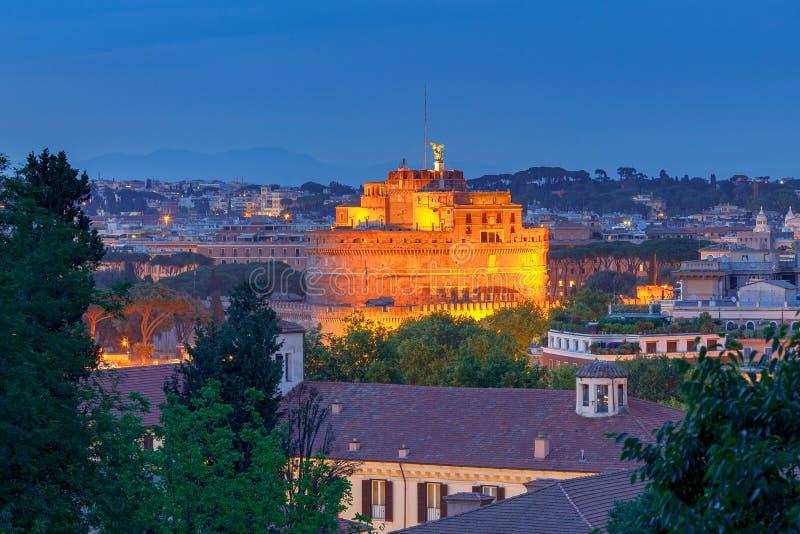 Ρώμη εναέρια όψη πόλεων στοκ φωτογραφίες με δικαίωμα ελεύθερης χρήσης